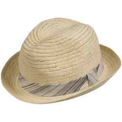 San Diego Hat Company Straw Fedora Hat (For Men and Women)
