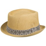 San Diego Hat Company Paperbraid Pork Pie Hat - Paper Straw (For Men and Women)