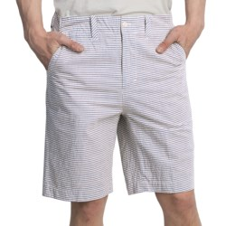 Flat Front Golf Shorts - Stretch Cotton (For Men)