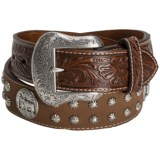 Nocona Prayer Concho Western Belt - Leather (For Men)