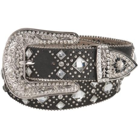 Nocona Diamond Western Belt - Leather (For Women)