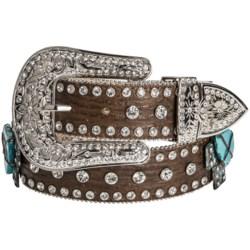 Nocona Crystals & Crosses Belt - Leather (For Women)