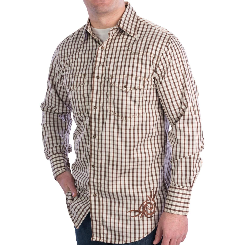 Resistol ranch dress grid shirt for men 7277n save 40 for Ranch dress n rodeo shirts