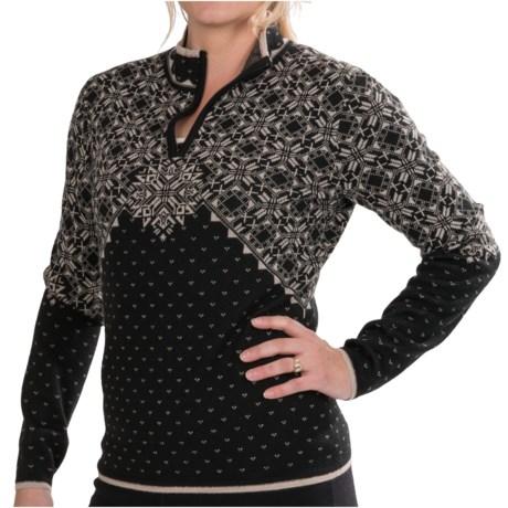Meister Evie Sweater - Wool Blend, Zip Neck (For Women)