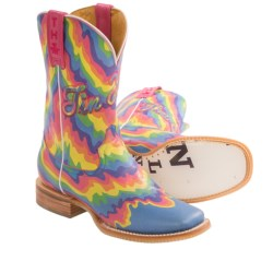 Tin Haul Neon Melt Cowboy Boots - Leather (For Women)