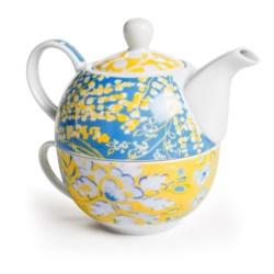 Dena Home Hampton House Porcelain Teapot and Mug - 16 fl.oz.