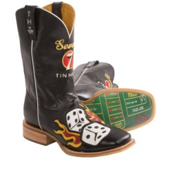 Tin Haul Lucky 7 Cowboy Boots - Leather, Square Toe (For Men)