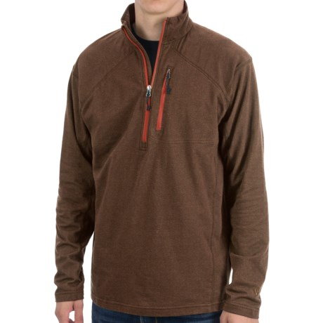 White Sierra Mountain Comfort Shirt - Zip Neck, Long Sleeve (For Men)