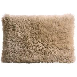 """Auskin Curly Longwool Sheepskin Pillow - 16x24"""""""
