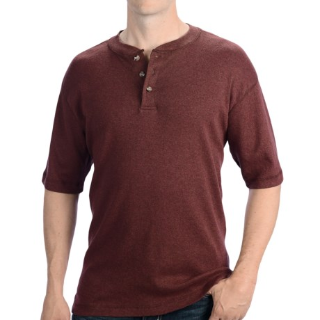 Henley Shirt - Short Sleeve (For Men)