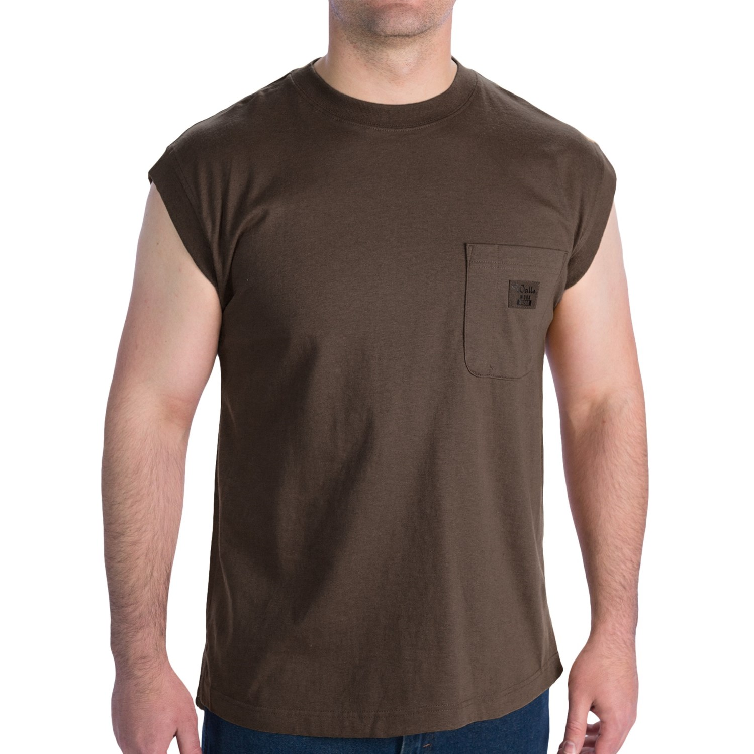Description: Fruit of The Loom % Cotton Pocket T-Shirt. Fabric is 5oz pre-shrunk, lighter weight cotton. 5-point pocket on left chest. (Note: Ash is 98% cotton, 2% polyester; Athletic Heather is.