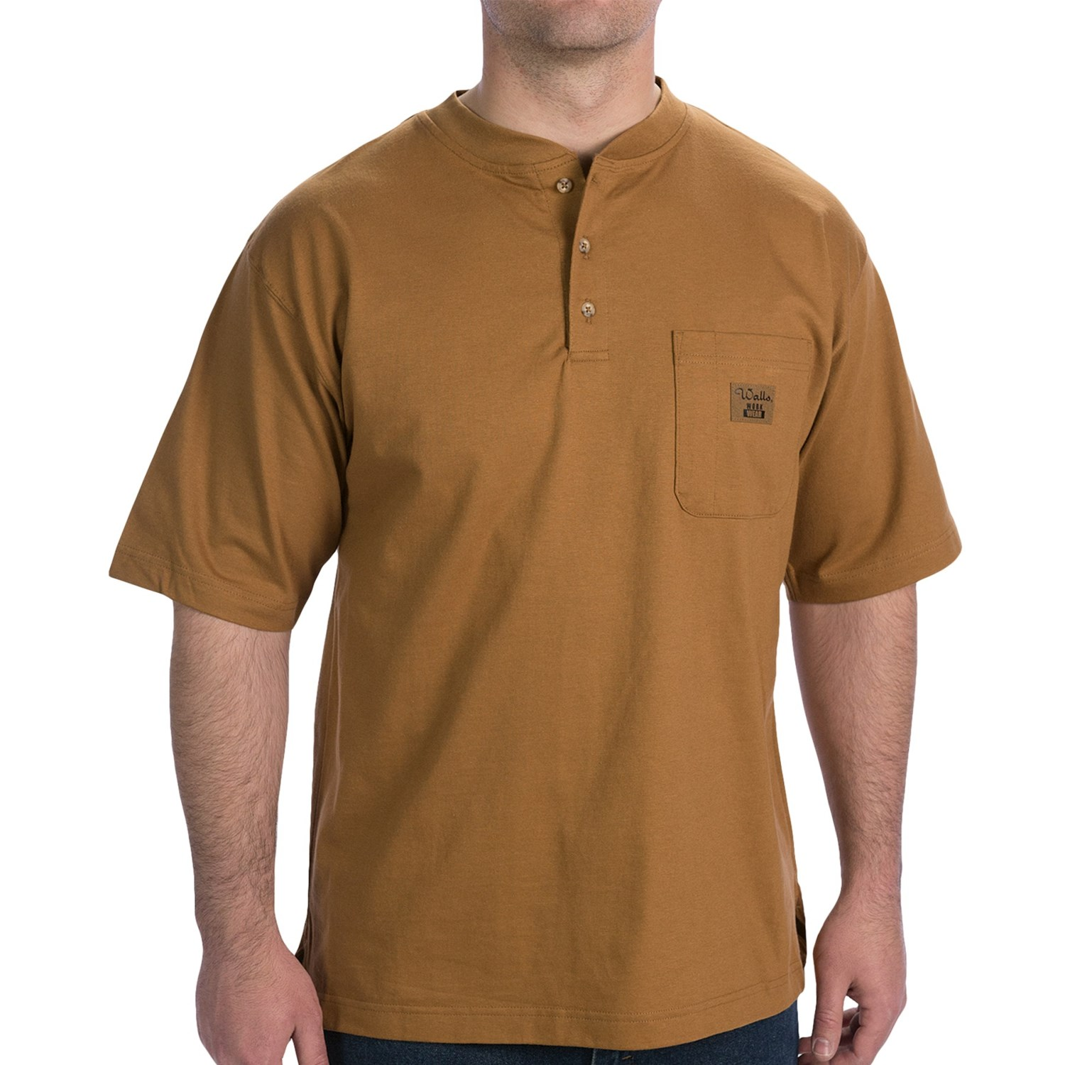 Walls workwear henley work shirt for men 7316a save 61 for Short sleeved shirts for men
