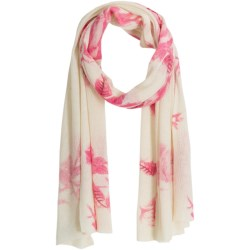 La Fiorentina Abstract Flower Print Scarf - Wool-Cashmere (For Women)
