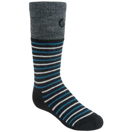 Point6 Merino Wool Stripe Ski Socks - Lightweight, Over-the-Calf (For Little and Big Kids)