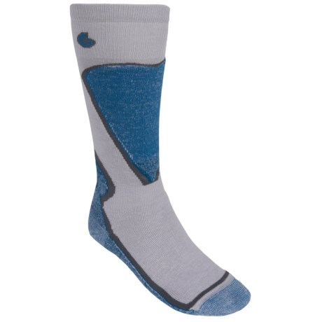 Point6 Ski Park Ski Stripe Socks - Merino Wool, Over the Calf (For Men and Women)