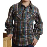 Roper Yarn-Dyed Plaid Shirt - Snap Front, Long Sleeve (For Boys)