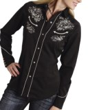 Roper Embroidered Guns Shirt - Snap Front, Long Sleeve (For Women)