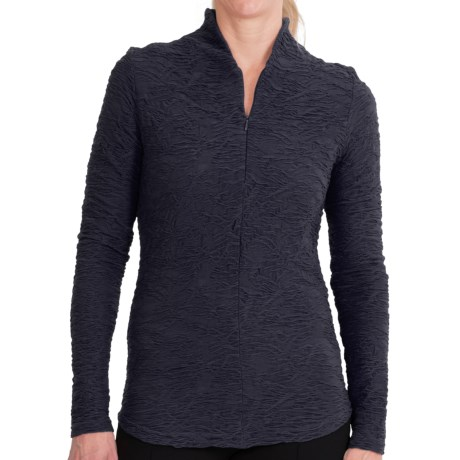 Sno Skins Web Funnel Neck Shirt - Zip Neck, Long Sleeve (For Women)