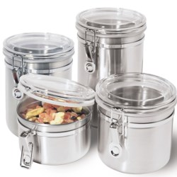 Oggi Stainless Steel Canister Set - 4-Piece