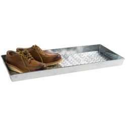 Extra Weave USA Rectangular Boot Tray - Galvanized Aluminum