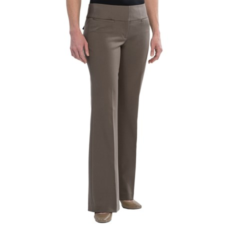 Wide Waistband Dress Pants - Flare Leg (For Women)