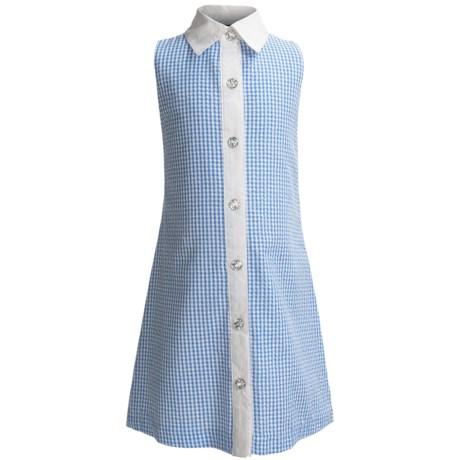 ABS Kids Gingham Seersucker Dress - Sleeveless (For Girls)