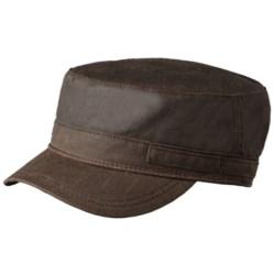 Woolrich Waxed Cotton Cadet Cap - Fleece Lining (For Men)