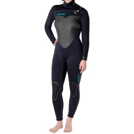 Hyperflex Skull Hooded Front Zip Full Wetsuit - 5/4/3mm (For Women)