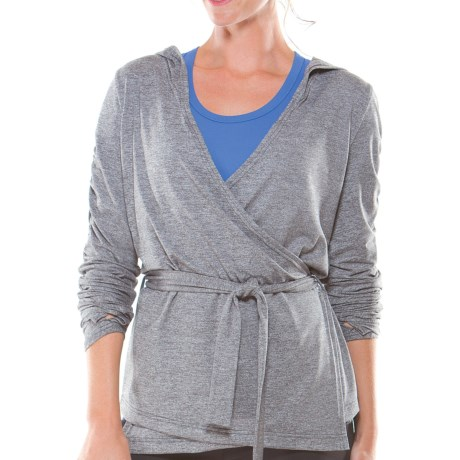 Moving Comfort Chic Wrap Sweater (For Women)
