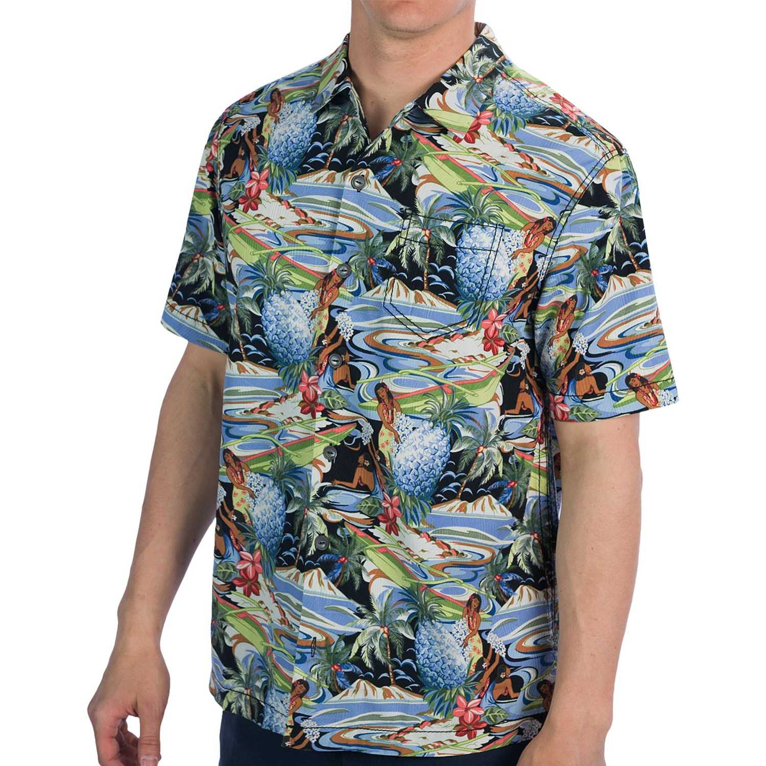 Tommy Bahama Moroccan Me Crazy Camp Shirt For Men 7386d