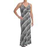Ethyl Print Ring-Back Halter Maxi Dress - Sleeveless (For Women)