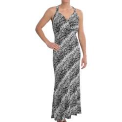 Ethyl Print Ring-Back Halter Maxi Dress - Sleeveless (For Women)