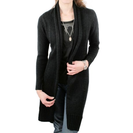 Ethyl Tuxedo-Front Long Sweater (For Women)