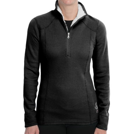 Hot Chillys Swirl Shirt - Zip Neck, Long Sleeve (For Women)