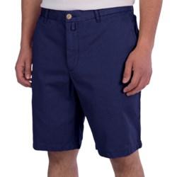 Thomas Dean Cotton Shorts - Flat Front (For Men)