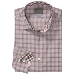 Thomas Dean Cotton Check Sport Shirt - Long Sleeve (For Men)