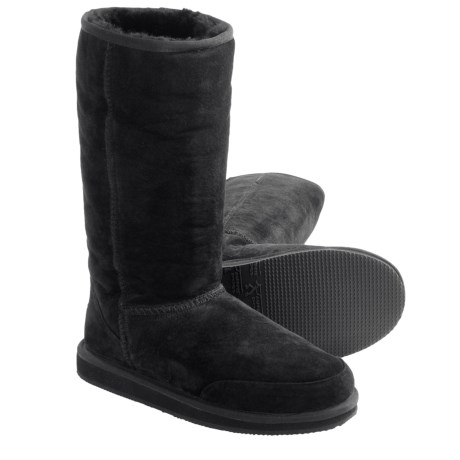 Aussie Dogs Coaster Tall Boots - Sheepskin-Lined (For Women)
