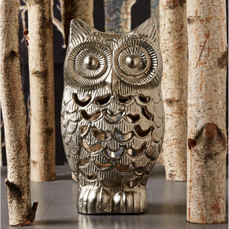 Two's Company Owl Tealight Candle Holder - Metal