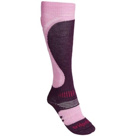 Bridgedale Heel Fit Ski Socks - Merino Wool, Midweight, Over-the-Calf (For Women)