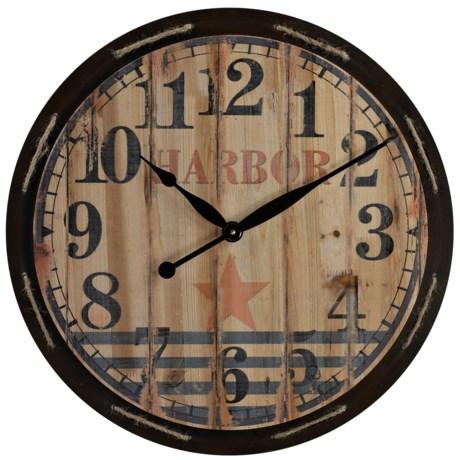 """Sterling Lighting Harbor Wall Clock - 23.5"""""""