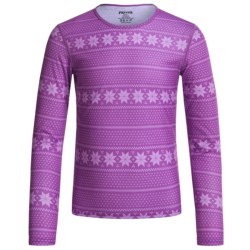 Hot Chillys Pepperskins Print Base Layer Top - Midweight, Crew Neck, Long Sleeve (For Little and Big Kids)