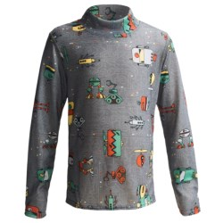 Hot Chillys Pepperskins Print Base Layer Mock Turtleneck - Midweight, Long Sleeve (For Little & Big Kids)