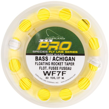 Cortland 333 Pro Bass Floating Rocket Taper Fly Line - 30 yds., Weight Forward