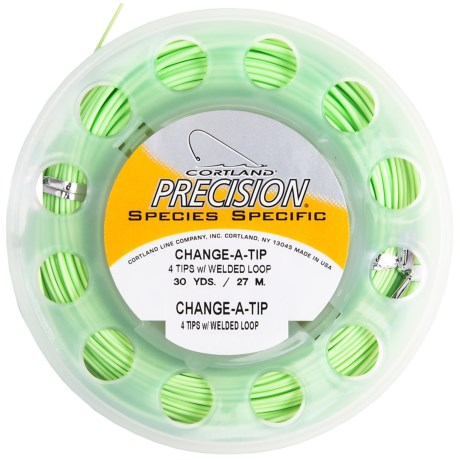 Cortland Precision Salmon Change-a-Tip Welded Loops Fly Fishing Line - 30 yds., Weight Forward