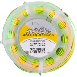 Cortland Precision Spey Long Belly Double-Handed Fly Fishing Line - Weight Forward, Floating, 140'
