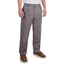 Lands' End Cotton Chino Pants - Traditional Fit, Pleated (For Men)
