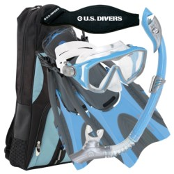 U.S. Divers Diva 1 LX Mask, Snorkel and Fin Combination Set (For Women)