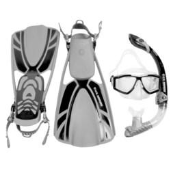 U.S. Divers LX Mask, Snorkel and Fins Combination Set