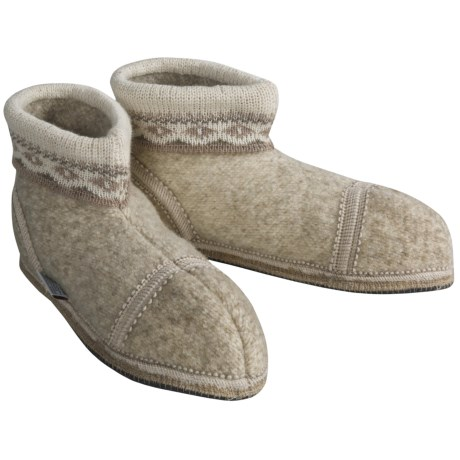 Wesenjak Slipper Booties with Cuff - Boiled Wool (For Men and Women)