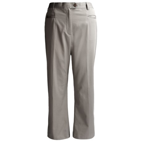 Lands' End 7-Day Stretch Twill Pants - Comfort Waist (For Plus Size Women)